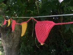 Guirnaldas tejidas al crochet