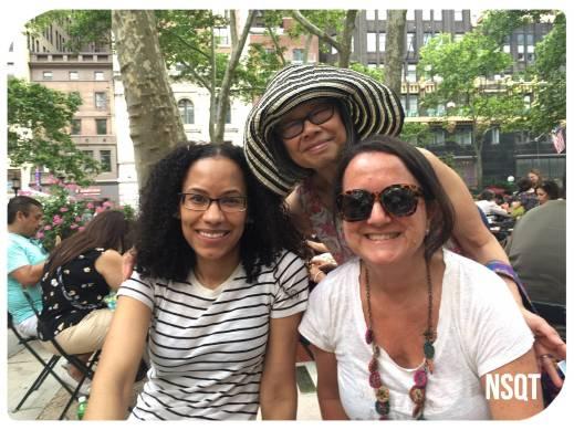 Pearl Chin de Knitty City junto a Marie de New Jersey y Mariana de NSQT (Foto: @trixiearg)